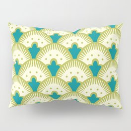 Fan Pattern Chartreuse Pillow Sham