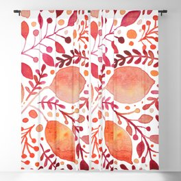 Autumn leaves - orange and red Blackout Curtain