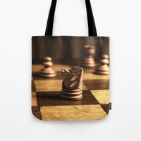 chess Tote Bags featuring Chess by Janelle