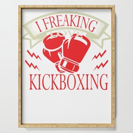 Kickboxing Gift Boxing Martial Arts Kickboxer Ko Serving Tray