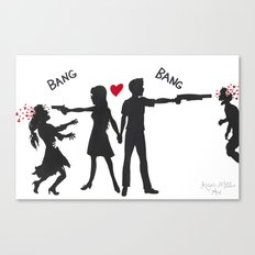Zombie Hunting Canvas Print