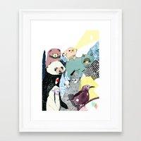breathe Framed Art Prints featuring Breathe by Julia Pott