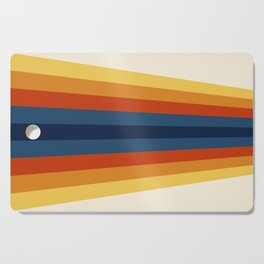 Bright 70's Retro Stripes Cutting Board