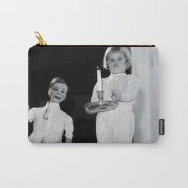 Creepy Ventriloquist Dummies that look like they might want to kill you black and white photography Carry-All Pouch