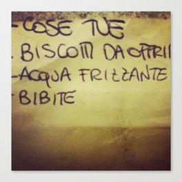 lista_della_spesa Canvas Print