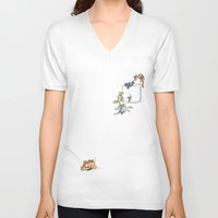 how to train your dragon V-neck T-shirts featuring How to train your Dragon by Lia Oh