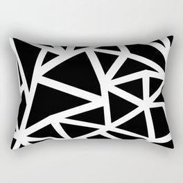 Ab Outline Thicker Black Rectangular Pillow
