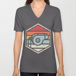 Retro Badge Whistle Unisex V-Neck