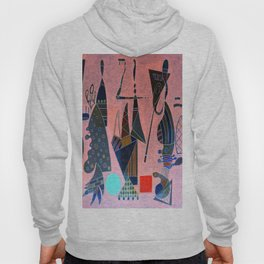 Wassily Kandinsky Forms on Pink Hoody