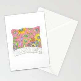 Pink Pussy Cat Hat Stationery Cards