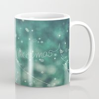 knitting Mugs featuring Christmas knitting by SensualPatterns