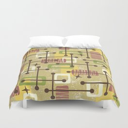 Mid Century Modern Abstract Pattern 834 Duvet Cover