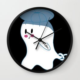 Little Ghost Knot Wall Clock