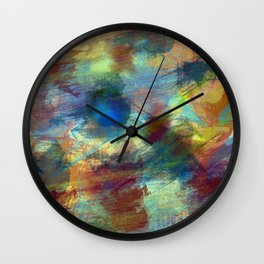 Vibrant Colored Abstract Painting Wall Clock