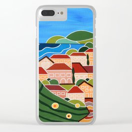 Lost Between Vineyards Clear iPhone Case