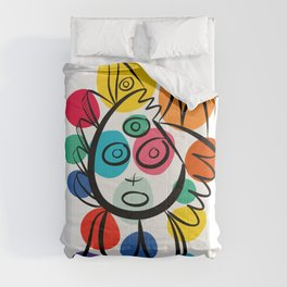 Colorful Cool Kid Joyful Graffiti Art  Comforters