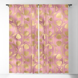 Beautiful Pink and Gold Leopard Design Pattern Blackout Curtain