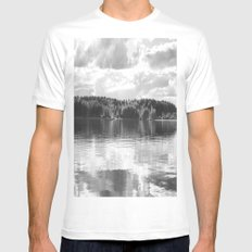 Reflections On A Lake LARGE White Mens Fitted Tee