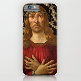 """Botticelli """"Christ as Man of Sorrows with a Halo of Angels"""" iPhone Case"""