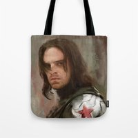 winter soldier Tote Bags featuring WS 1 by Wisesnail