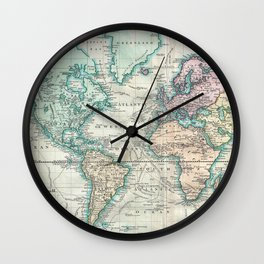 Vintage Map of The World (1801) Wall Clock