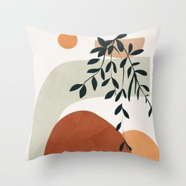 Soft Shapes I Throw Pillow