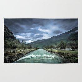 rainy river Rug