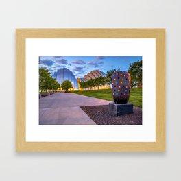 Morning at the Kansas City Kauffman Arts Center Framed Art Print