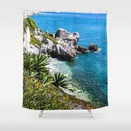 Coastline of Gibraltar Shower Curtain