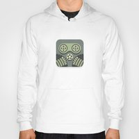 steam punk Hoodies featuring Steam Punk Mask by Nick Kumbari