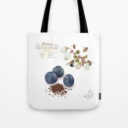 Blueberry and Pollinators Tote Bag