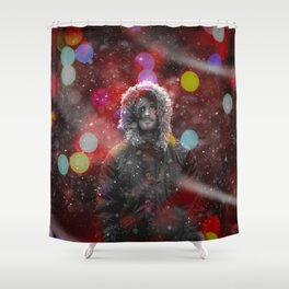 color snow Shower Curtain