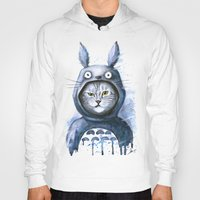 Hoodies featuring Cat  by Lin.E