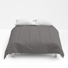 Simple Solid Color Ash Gray All Over Print Comforters