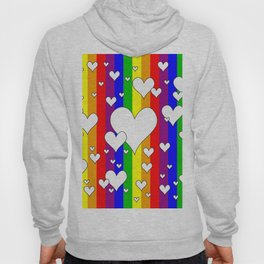 Gay flag with the colors of the rainbow with hearts Hoody