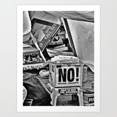 War is NOT the answer Art Print