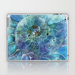 Aqua seashell - mother of pearl - Beautiful backdrop Laptop & iPad Skin