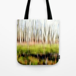Birch in the Green Forest Tote Bag