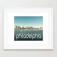 philadelphia Framed Art Prints featuring Philadelphia  by redcoatstudiocolor