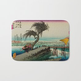 Yokkaichi - Vintage Japanesse Ukiyo e Art Bath Mat