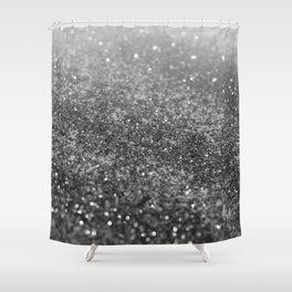 Silver Gray Black Glitter #2 (Faux Glitter - Photography) #shiny #decor #art #society6 Shower Curtain