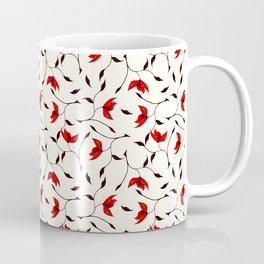 Strange Red Flowers Pattern Coffee Mug