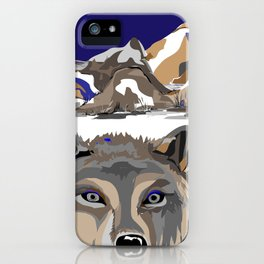 """Lone Wolf"" Paulette Lust's Original, Contemporary, Whimsical, Colorful Art  iPhone Case"