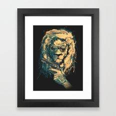 Lion is always Cool Framed Art Print