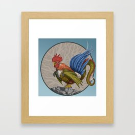 Monster of the Week: Nevine Blue Tailed Cockatrice Framed Art Print