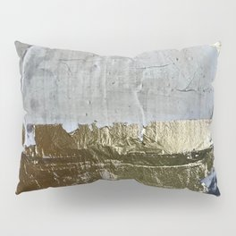 Elegantly Rough: an abstract, minimal piece in gold, pink, black and white by Alyssa Hamilton Art Pillow Sham