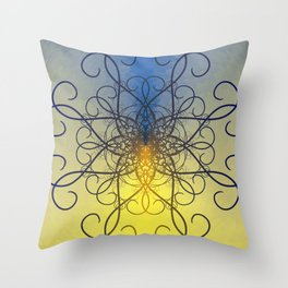 Symmetry 8: Jellyfish Throw Pillow
