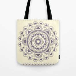 Boho Indian medallion Cream Tote Bag