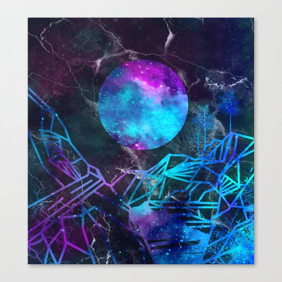 galaxy landscape Canvas Print