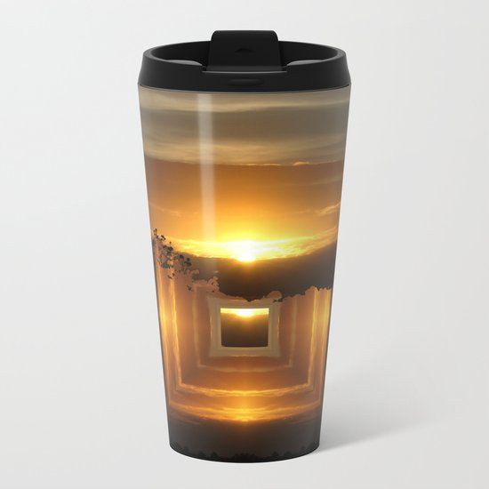 Catch a little sunrise and save it for a rainy day Metal Travel Mug